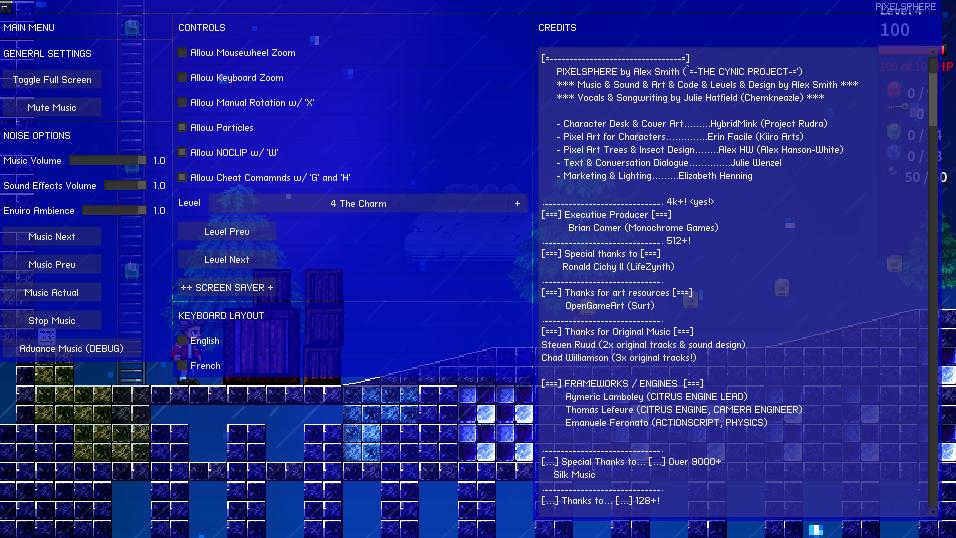 Pixelsphere: a musical platformer, 2D pixel-art sidescroller by The